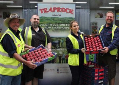 Harvest Markets Booval Rob with growers at Traprock Region launch