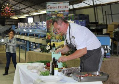 Ben McGregor Terrace Food Project showcasing Traprock Region nectarines