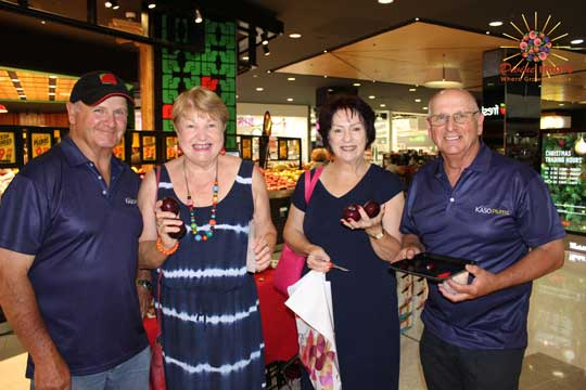 Customers enjoying Kaso plums