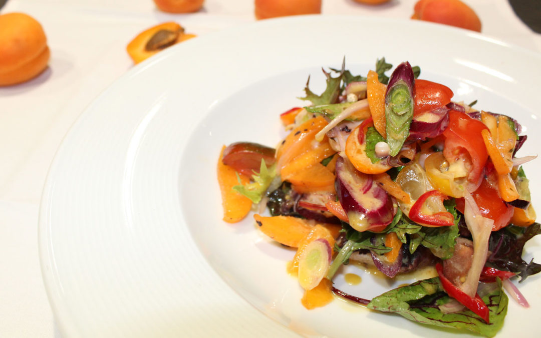 Tropical Salad with Octopus and I.M. SWEET Apricots