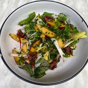 Nectarine and witlof salad