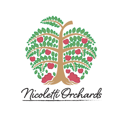 Nicoletti Orchards logo stacked